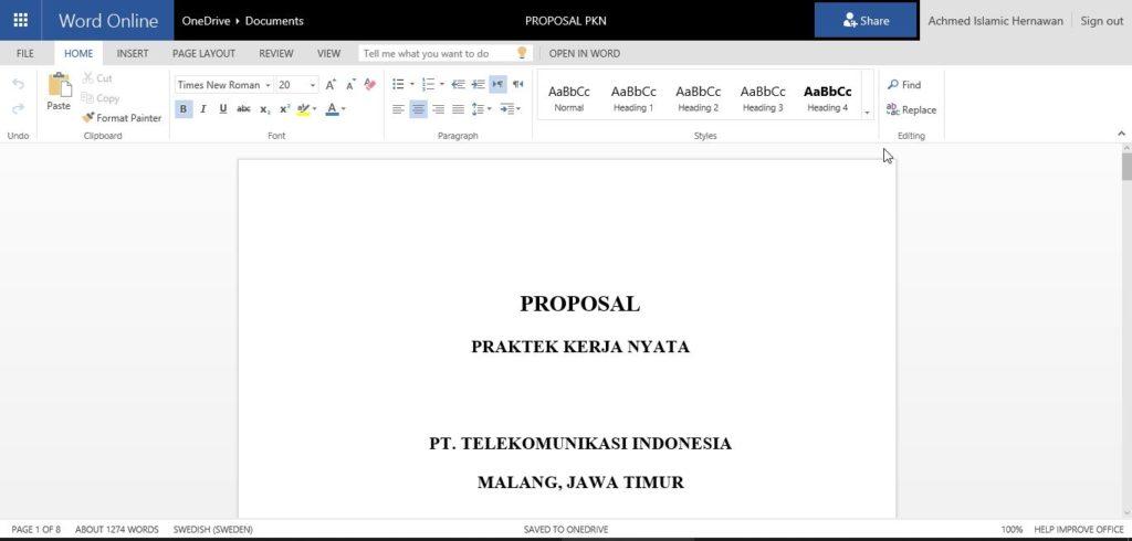 Membuka Dokumen Dengan Office Online