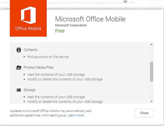 Permission Di Microsoft Office Mobile