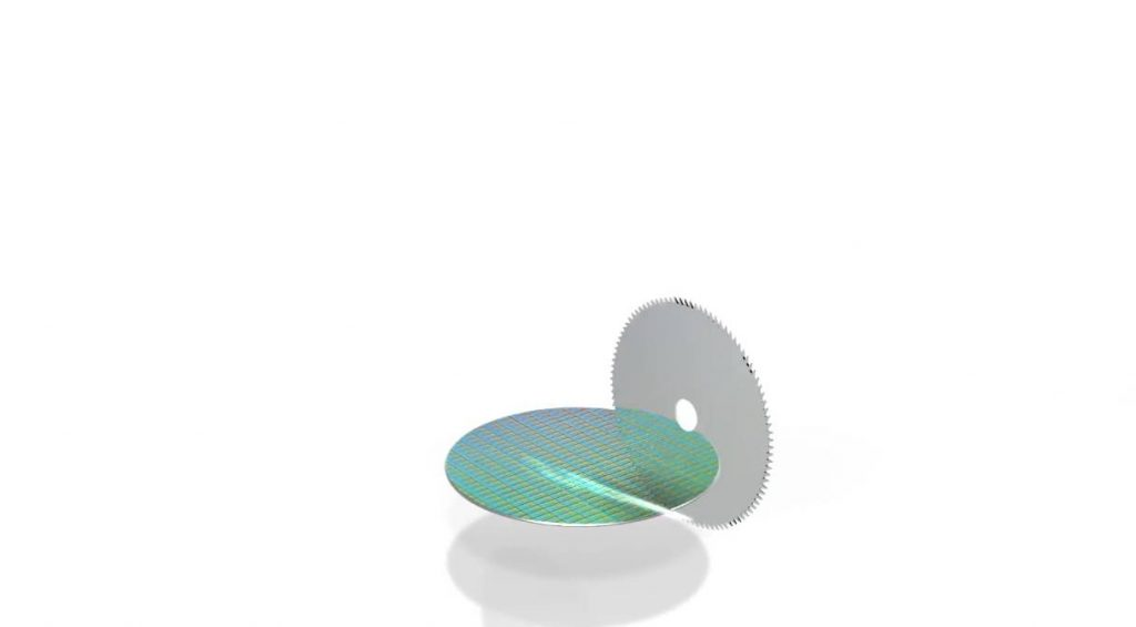 Pemotongan Wafer Sesuai Ukuran Chip