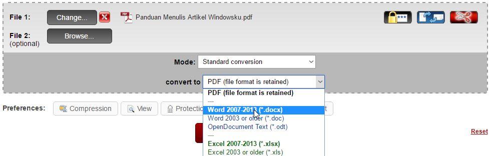 Mengubah Format Dokumen Pdf Ke Word