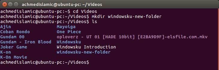 Membuat Folder Baru Di Terminal Ubuntu