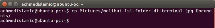 Menggandakan Data Di Terminal Ubuntu
