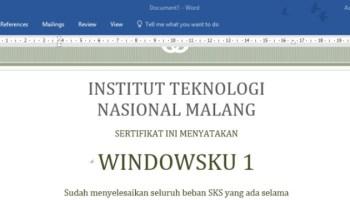 Cara Cepat Membuat Sertifikat Di Microsoft Word Dengan Data Dari Microsoft Excel