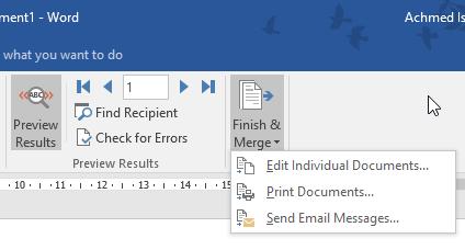 Menyelesaikan Mail Merge