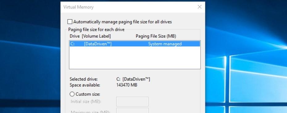 Cara Setting Virtual Memory Di Windows 10