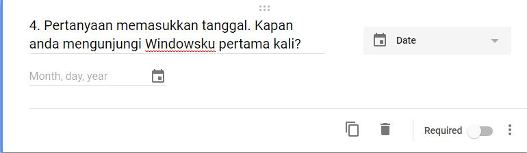Google Form Pertanyaan Dengan Tanggal
