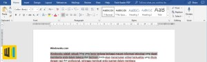 Cara Menyeleksi Teks Microsoft Word Header