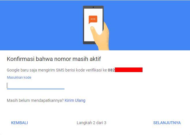 Konfirmasi Verifikasi 2 Langkah Google Account