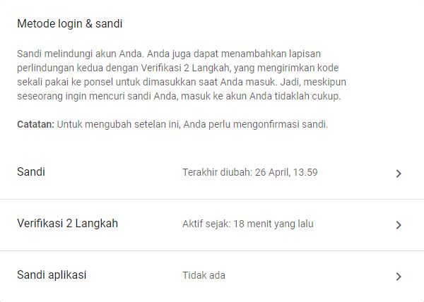 Metode Login Sandi Google Account 2