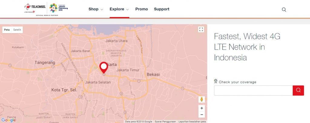 Area Cakupan 4g Telkomsel