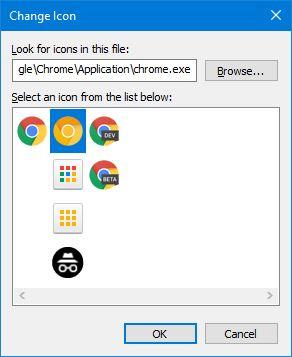 Mengganti Icon Chrome