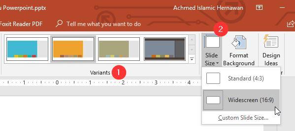 Variant Slide Size Powerpoint