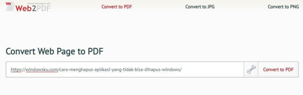 Halaman Web2pdf