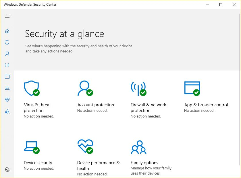 Windows Defender Windows 10