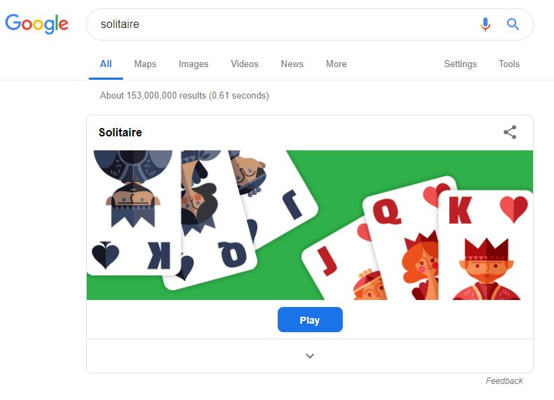 Google Games Solitaire