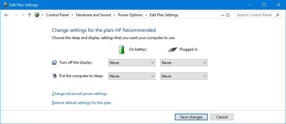 Pengaturan Power Plan Windows 10
