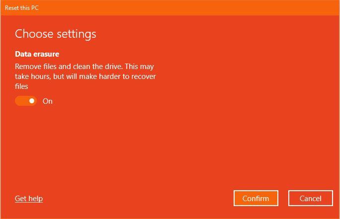 Change Settings Reset This Pc Windows 10