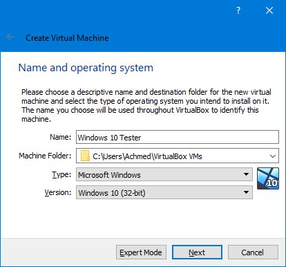Memberi Nama Ke Virtual Machine Virtualbox