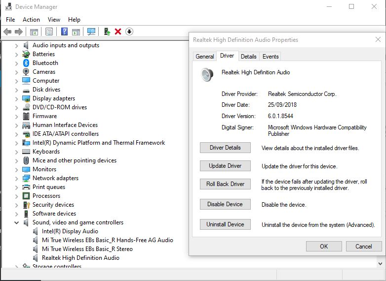 Device Manager Tab Driver