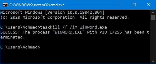 Aplikasi Tertutup Paksa Command Prompt Windows