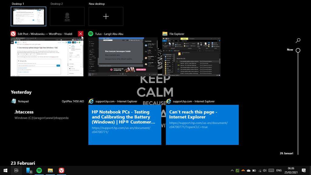 Cara Menutup Aplikasi Windows Task View