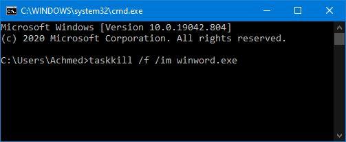 Taskkill Di Command Prompt Windows