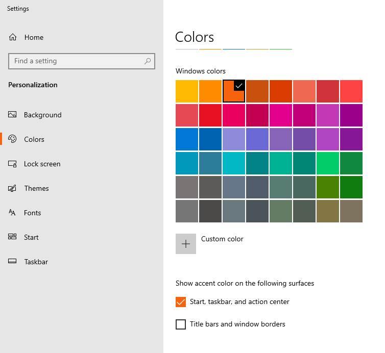 Mengubah Warna Taskbar Windows