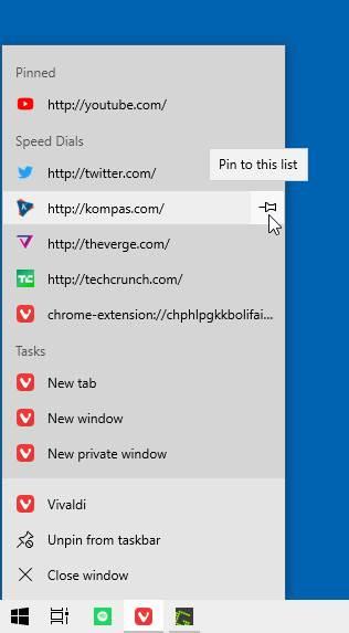 Pin Dengan Jump List Taskbar