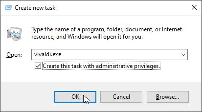 Run New Task Manager