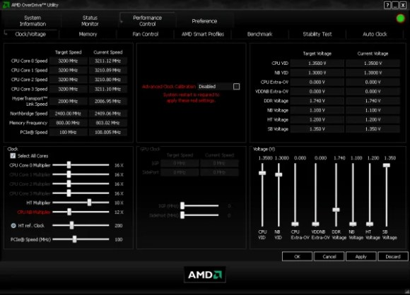 AMD Overdrive GPU overclocking software