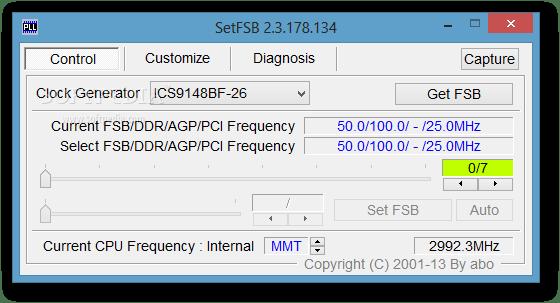 SetFSB overclocking tool