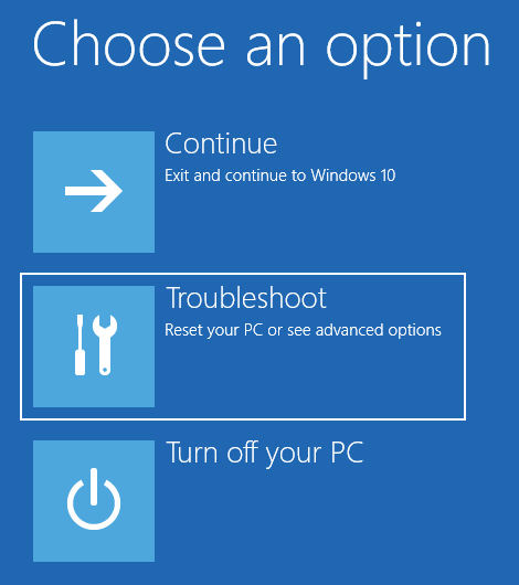 Fix Mbr Errors Windows 10 - Select Troubleshoot