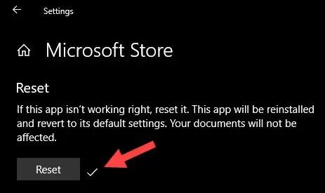 Store app reinstalled in Windows 10