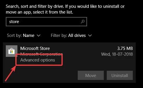 Fix 0x80244018 error - click advanced options