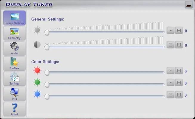 Control desktop screen brightness display tuner
