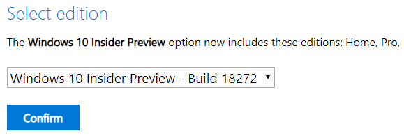 Download Windows 10 Insider Build 18272 (19H1) ISO