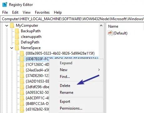 3d objects folder remove reg key 2