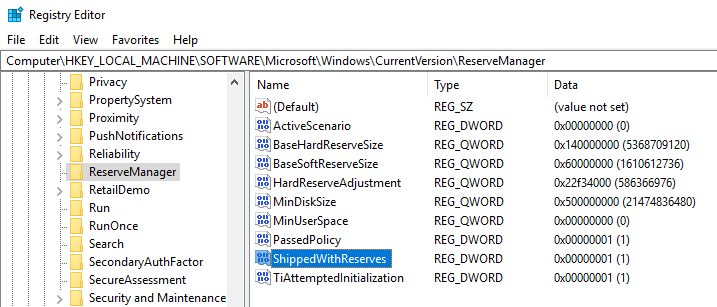 Disable reserved storage on windows 10 03