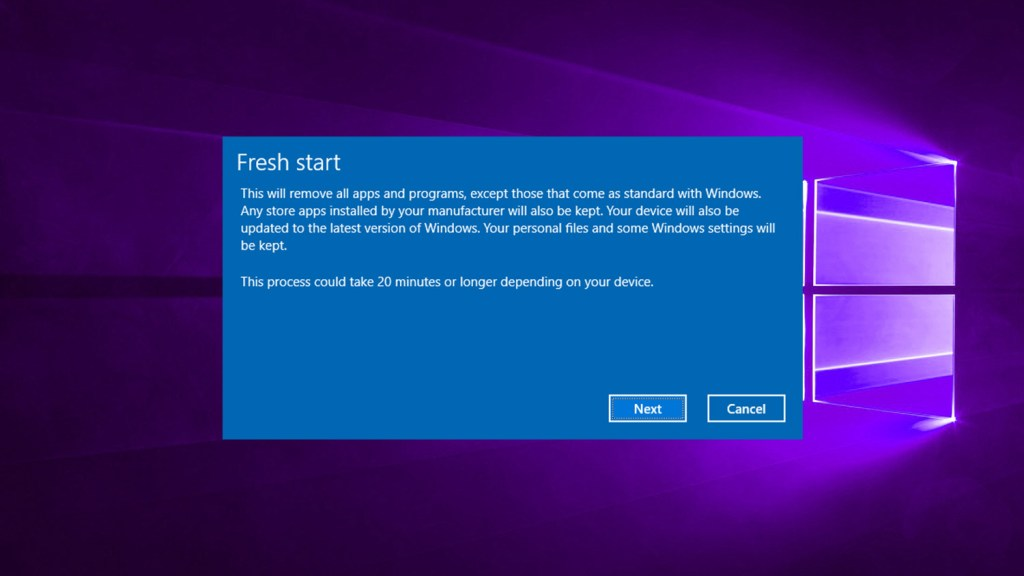Refresh reset pc from command prompt featured