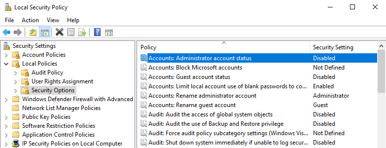 Windows 10 enable hidden administrator account 08