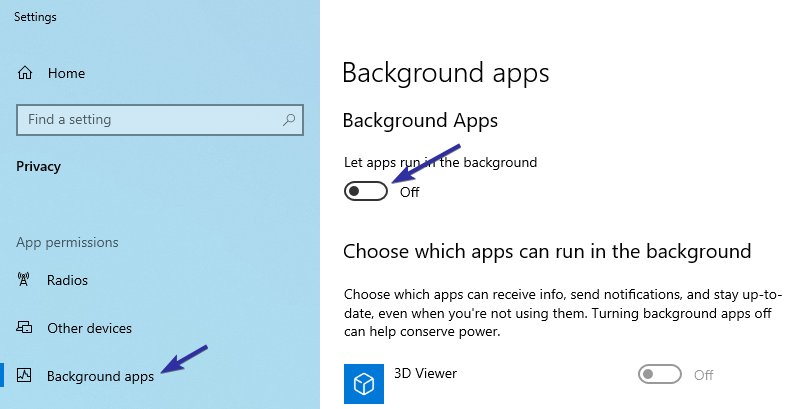 Windows 10 stop background apps 01