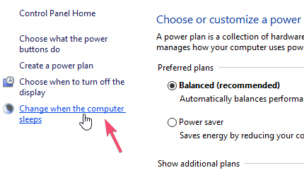 Windows 10 turn off automatic sleep mode 03
