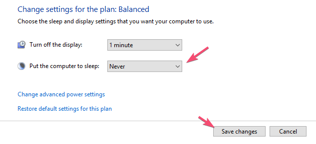 Windows 10 turn off automatic sleep mode 04