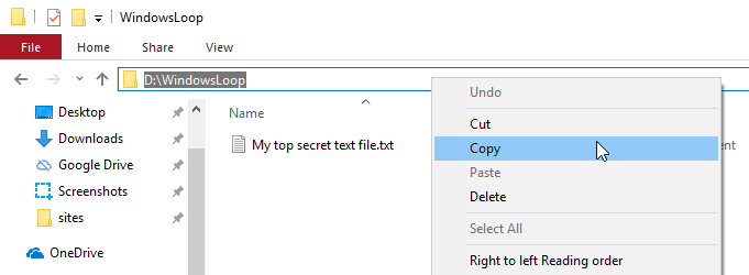 Attrib command to hide folder 01