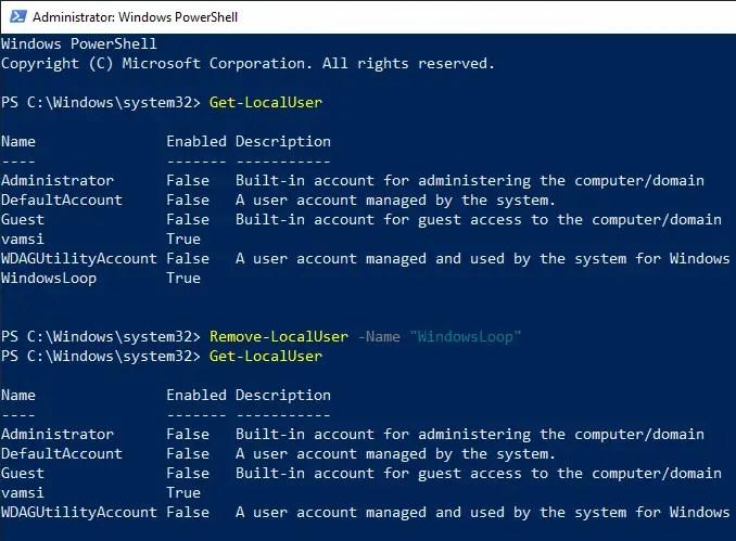 Delete user account windows 10 20