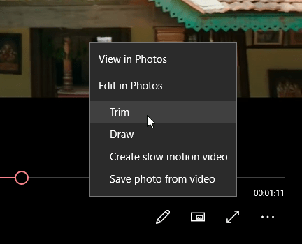 Trim video with movies and tv app 02
