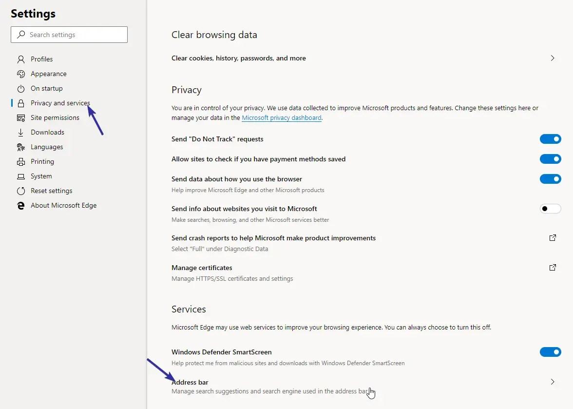 Change edge search engine 02