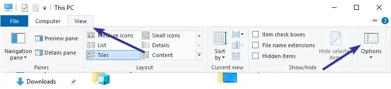 Clear file explorer address bar history 04
