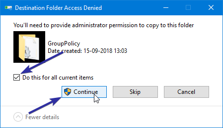 Restore group policy settings 07