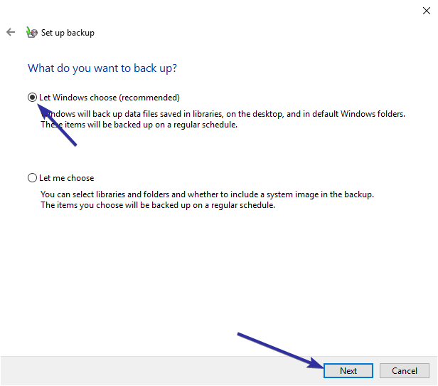 Windows 10 backup to network drive 08